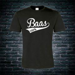 100% Baas T-shirt zwart
